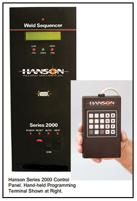 Hanson Welding Machines - Welding Controls